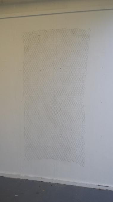 Chicken Wire on Exhibition Wall